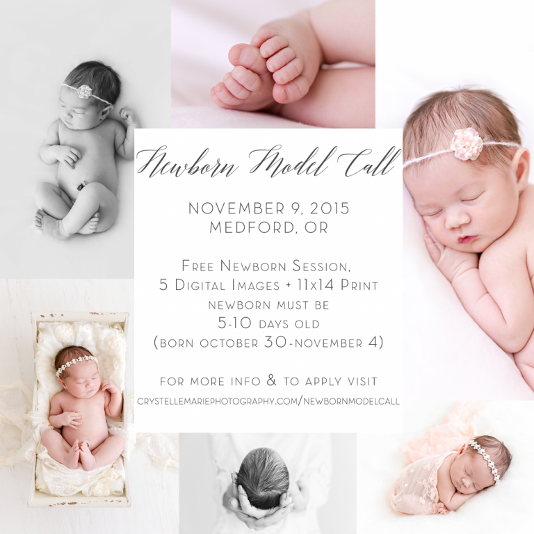 newborn model call southern oregon
